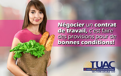 Metro Pierre dAmour de Drummondville (TUAC Qubec) Tags: portrait people food white beautiful beauty smiling retail fruit shopping bag paper studio bread store holding women adult market sale happiness vegetable supermarket full backgrounds customer organic females cheerful youngadult groceries foodanddrink isolated oneperson freshness dieting ingredient lifestyles healthyeating vegetarianfood greencolor caucasianethnicity