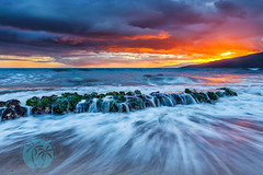 Amazing Maui Sunset (brandon.vincent) Tags: ocean sunset usa 3 seascape clouds canon landscape drag hawaii lava amazing rocks long exposure pacific mark iii maui filter lee shutter 5d sire kihei gnd