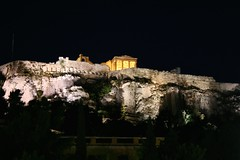 (Brian Aslak) Tags: night europe hellas athens greece plaka acropolis attica