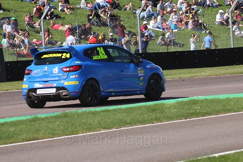 George Jackson in the Clio Cup during the BTCC Weekend at Thruxton, May 2016