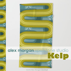 Kelp.beach towel (Spellstone) Tags: ocean sea wallpaper seaweed clock home modern illustration design artist folkart pattern forrest drawing linen craft towel spot surfacedesign textile fabric cotton kelp blanket mug rug environment decal reef tote duvet throw giftwrap totebag 2016 bedset duvetcover fabricdesign alexmorgan spoonflower spellstone society6 fabriccollections
