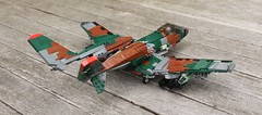 A-17 Thunderstruck Rear (Matt Hacker) Tags: model lego gull aircraft tail attack wing jet twin boom camo corsair swept forward cas warthog a10 moc thunderstruck a17