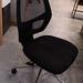 Black swivel chair no arms