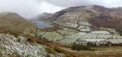Late Spring Hail Over Tal-y-Llyn (benstaceyphotography) Tags: panorama snow mountains weather hail wales landscape cymru snowdonia idris talyllyn cadair iphone4s