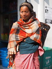 Kohima - Woman with basket (sharko333) Tags: voyage street travel woman asia asien basket asie indien reise kohima nagaland em1
