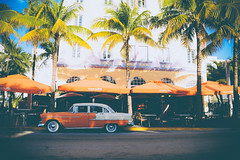 Art Deco - Miami Beach (fgazioli) Tags: street travel orange usa ford praia beach car vintage nikon classiccar vintagecar florida miami outdoor streetphoto artdeco oldcar miamibeach d5300 bestplacestogo