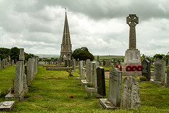 St Minver churchyard (adiej62) Tags: uk church beautiful graveyard clouds trekking landscape outdoors countryside walks cornwall hiking peaceful graves tranquil