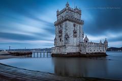 Belm Tower (Alexandre de Sousa Photography) Tags: 2016 riotejo sunset lisboa portugal pt water architecture lisbon longexposure long exposure reflection river tagus cloud