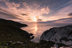 Looking towards North Stack on Holyhead mountain (nigel.barry22) Tags: ocean sunset sea sky mountain rock anglesey holyhead holyheadmountain mynyddtwr