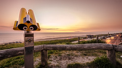 Sunset (cb.photography) Tags: eve travel sunset summer vacation sky sun lighthouse holiday holland beach netherlands strand evening abend nikon sonnenuntergang dusk sommer urlaub telescope dmmerung sonnig sonne leuchtturm niederlande egmond fernrohr egmondaanzee flickrfriday egmondamsee