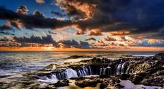 Bufadero (Pepe Quijote) Tags: morning sea sky sun landscape rocks silk amanecer cielo effect seda efecto