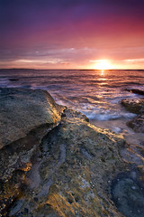 """Breakfast"" - Cronulla Sunrise (Luke Peterson Photography) Tags: sea colour wet water yellow sunrise canon rocks waves bright 7d colourful filters cronulla cokin"