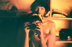 faðma á smokkfisk (mariana boubet) Tags: boy red summer orange reflection love film boyfriend girl yellow analog 35mm vintage closet nude lens 50mm mirror nikon hug girlfriend couple view skin kodak amor retro homemade bikini espejo iloveyou analogue nikonfm2 abrazo redscale sooc benjaerísmasricoquelpanconpalta
