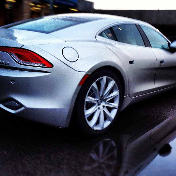 A FISKER KARMA. The perfect grocery getter