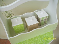kit porta-trecos forrado com tecido (MarinaGigica) Tags: patchwork mdf lembrancinhas