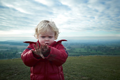 A Boy's Hands Are Made For Digging (ReportageImages) Tags: leica boy portrait england landscape hands view candid 28mm hill somerset dirty summicron vista asph m9 cley