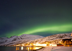 IMG_0583 (Bucks nature tog) Tags: light moon snow green norway landscape lights march norge aurora land fjord northern scape 2012 borealis tromso troms troms ersfjordbotn