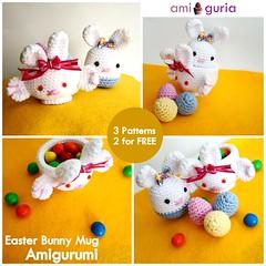 Easter Bunny Mug Amigurumi by Amiguria (Amiguria) Tags: bunny cup easter crochet egg mug amigurumi