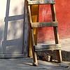 one brick short (msdonnalee) Tags: ladder brick wall woodenladder shadow mexcio mexiko mexique messico photosfromsanmigueldeallende fotosdesanmigueldeallende schafften ombra ombre sombra 影 shade schatten ظل тень
