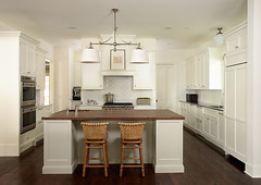 "White painted kitchen with wood and stainless sell countertops • <a style=""font-size:0.8em;"" href=""http://www.flickr.com/photos/75603962@N08/6853347381/"" target=""_blank"">View on Flickr</a>"