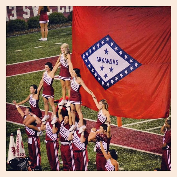 #gohogs #wps #arkansas #razorbacks #collegefootball #sec #cheerleaders #football