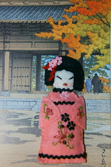 Kokeshi (dmmalva) Tags: japanese doll broche handmade pregadeira brooch felt handcrafted kimono boneca kokeshi artesano hechoamano fieltro