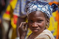 Portrait of a little girl of ethnic Fulani to the market of Gorom Gorom, Sahel, northern Burkina Faso (anthony pappone photography) Tags: africa portrait people canon market westafrica tribes afrika earrings bella ethnic ritratto burkina burkinafaso afrique fulani goromgorom sahel tribu  peul etnia bororo orecchini  childrentravel portraitsofchildren   burkinabe africantribe  pehul