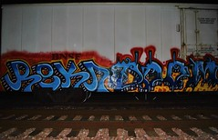 Reken, Doom (nunya...nunyabusiness) Tags: art train graffiti paint graf tracks icicle doom spraypaint bnsf reken
