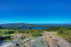 View from Cadillac Mountain (Daniel J. Mueller) Tags: park usa mountain lake rock bush forrest maine cadillac national lobster acadianationalpark mounain accadia