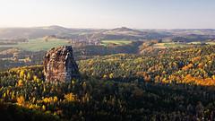 the rock (Dennis_F) Tags: autumn light fall nature colors forest germany landscape deutschland schweiz switzerland licht colorful sony herbst natur sigma sachsen fullframe dslr 50 landschaft sonne falkenstein bunt 50mmf14 farben schsische schsischeschweiz badschandau abends sigma50mm sigmalens schrammsteine a850 sonyalpha sonydslr vollformat sigma5014 sigma50mmf14 sigmaobjektiv dslra850 sonya850 sonyalpha850 alpha850 festbrennweitesaxon