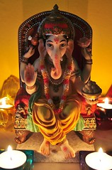 Remover of Obstacles (ngel descuidado) Tags: light elephant ganesha candle ganesh wisdom vinayaka ganapati deva intellect ganesa vighneshvara pillaiyar   vighnesha