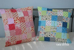 patchwork pillow cover (coco stitch) Tags: children quilt patchwork pillowcase