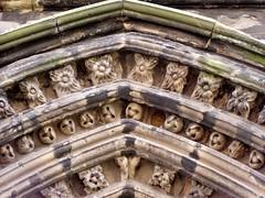 St Mary's Church Mar 2009 006 (DizDiz) Tags: uk flowers england church arches staffordshire stafford olympusc720uz countytown