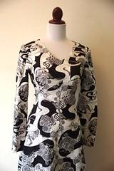 Black and White Mod 1960s Psychedelic Dress (Retro Kitten Vintage) Tags: white black vintage mod 60s dress retro 1960s psychedelic maxi twiggy