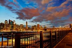 Manhattan - Midtown and Brooklyn Bridge (KP Tripathi (kps-photo.com)) Tags: newyorkcity newyork manhattan brooklynheightspromenade brooklynbridge    manhattanfrombrooklyn  canoneosmarkiii   thnhphnewyork      kptripathi canoneos24105f4lis