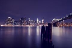 Downtown (Fabio Sabatini) Tags: nyc newyorkcity longexposure light brooklyn night manhattan wideangle brooklynbridge downton