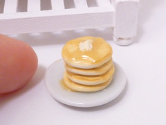 Pancakes 1:12 (minniekitchen) Tags: breakfast miniature ebay mini polymerclay butter bjd pancake etsy rement crumpet dollhouse dollprop