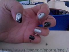 Nail Art Simples (Penguin's Nail) Tags: art nail polish preto impala unhas risque prata cromo unha pintas fosco esmaltes esmalte mandz