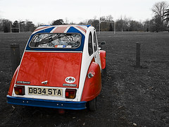 Proud to be British (DaveKav) Tags: uk england car proud citroen olympus oxford 2cv british oxfordshire e510 2cv6special