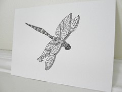 Ink drawing of dragonfly (mbrichmond) Tags: dragonflies originalart insects inkdrawings smalldrawings dragonflyart dailydrawings insectart capecodart dragonflydrawings naturedrawings insectdrawings blackandwhitedrawings naturesketches maryrichmond