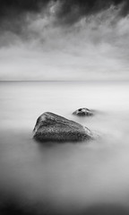 Two If By Sea (Nate Parker Photography) Tags: ocean longexposure sea sky blackandwhite bw seascape monochrome clouds coast rocks capecod scenic newengland le coastline atlanticocean