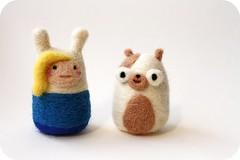 Adventure Time: Fionna & Cake (michelleness) Tags: cute wool cake felting crafts felt fanart needlefelting fiber fionna adventuretime michelleness