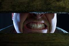 Come, open the barn doors... II (O.I.S.) Tags: strange face mouth dark eos 50mm weird gesicht teeth bad evil bse 18 dunkel mund zhne 30d merkwrdig unheimlich