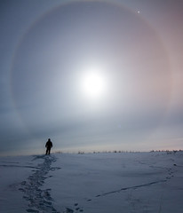 One Ring To Rule Them All (davebrosha) Tags: winter moon snow silhouette night landscape photography north stock nwt images astro ring astrophotography astronomy northwestterritories