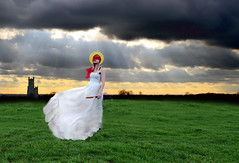 Her Fall From Grace (Ellieboat) Tags: green grass clouds grey religion knife halo christianity brookeshaden