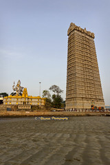 Lord Shiva & Gopura of Murudeshwara Temple (2ibkumar) Tags: sky beach canon temple photography place god lord holy shiva gopura murudeshwara 2ibkumar