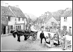 1900.....BEFORE THE RUSH (Norfolkboy1) Tags: england 1900 marketplace wiltshire stipple penink castlecombe rapidograph pointillism originaldrawing weaverssteps multotourismo