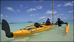 Hobie Tandem Island (Mark Payton Photography) Tags: ocean water yellow canon eos hawaii kayak sailing oahu sail seakayak 1ds canonef1740mmf4lusm hobie kailua kailuabeach markpayton hobiekayak missoulaphotographer markpaytonphotography hobietandemisland closerkayak ryansluss