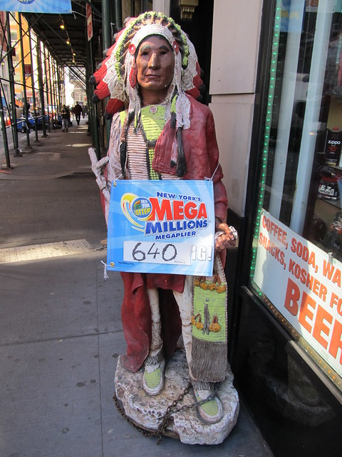 This cigar store indian knows all about tonights $640 million Mega Millions jackpot (03/30/12) (IMG_7428)