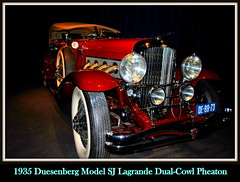 1935 Duesenberg Model SJ Lagrande Dual-Cowl Pheaton (PictureJohn64) Tags: auto heritage classic car museum model automobile driving traffic famous den transport hague collection commercial transportation sj historical haag collectie fahrzeug oto duesenberg 1935 historisch verkeer vervoer lagrande klassiek  samochd beroemd gravenhage otomobil louwman pheaton automobiel worldcars dualcowl  automoviel klassiesch